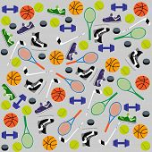 ������, ������: Sports Equipment Background