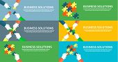 stock photo of puzzle  - Business solutions concept - JPG