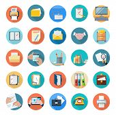 Постер, плакат: Icons Set of Office Tools