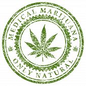 stock photo of marijuana  - Illustration of marijuana leaf as a symbol of medical marijuana - JPG