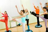 picture of step aerobics  - Health Club - JPG