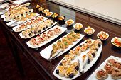pic of buffet  - Buffet meal at a hotel continental breakfast - JPG