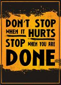 picture of hurt  - Motivation poster with the quote  - JPG