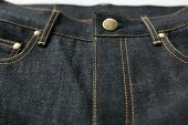 foto of denim jeans  - Selvedge denim Jeans close-ups from different angles