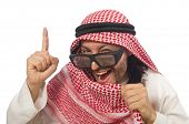 stock photo of arab man  - Concept with arab man isolated on white - JPG