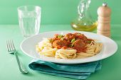 picture of meatball  - spaghetti with meatballs in tomato sauce - JPG