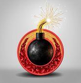 Постер, плакат: Cholesterol Time Bomb