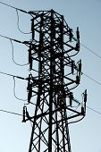 picture of power transmission lines  - Power line in Navarra - JPG