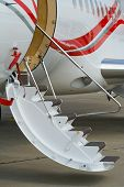 Civil airplane low air-stairs