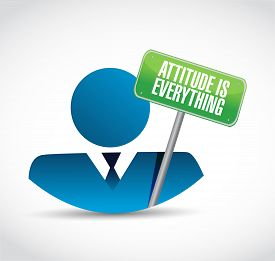 picture of avatar  - attitude is everything avatar sign concept illustration design icon - JPG