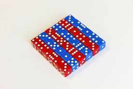 picture of augen  - Wuerfel Spiel game play dice rot blau number - JPG