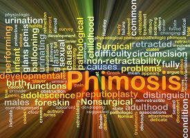 picture of glans  - Background concept wordcloud illustration of phimosis glowing light - JPG