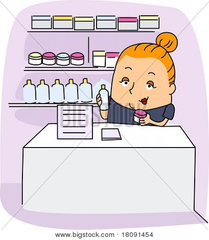 poster of Illustration of an Esthetician at Work