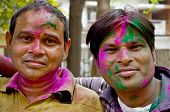 Indian Men With Painted Faces