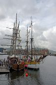 picture of yardarm  - Two sail training ships used to give young people an experience of the sea - JPG