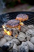 Barbecue Cooking Burgers