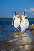 Two Brides On Shore
