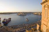 wiew on Malta historic harbor