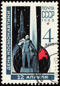 Russian Scientist Tsiolkovsky On Post Stamp