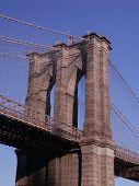 Brooklyn Bridge. Fragment Of The Top Part.