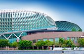 Twin '' Durian '' Convention centre in Singapore. Venue for famous plays and arts performances locat