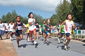 LAGUNA, PHUKET -  JUNE 13: Children participants compete at the Phuket International Marathon 2010 o