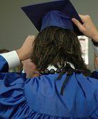 Graduate Getting Dressed