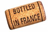 Wine Cork With Inscription Bottled In France