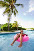 Little Girl In Pool