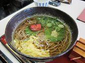 Japanese plum flavor ramen noodle