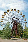 Abandoned amusement park in Pripyat, Chernobyl area