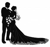 Bride And Groom Silhouette