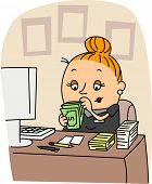 Illustration of an Accountant at Work