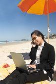 Businesswoman At Beach