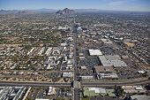 foto of piestewa  - Aerial view of State Route 51 and Camelback Road in Phoenix - JPG