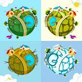 Tierra en la temporada diferentes