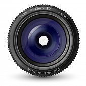 Ilustração em vetor de uma lente de câmera