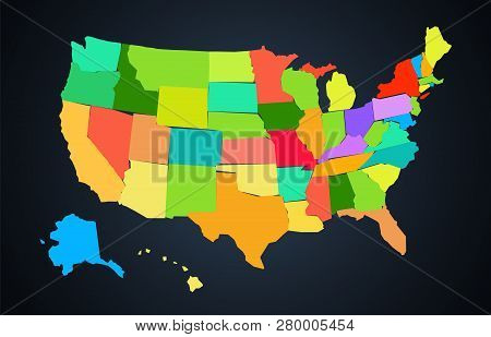 United States Of America Colorful