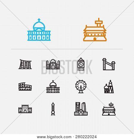 Travel Icons Set England London