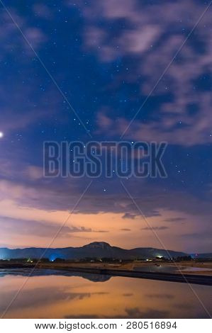 Starry Sky Reflected In The