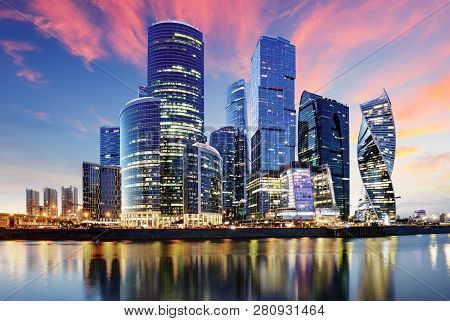 Skyscrapers Of Moscow City Business