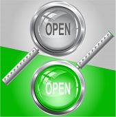 Open. Raster magnifying glass. Vector version is in my portfolio.