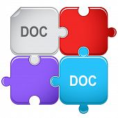 Doc. Raster puzzle. Vector version is in portfolio.