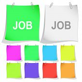 Job. Raster note papers. Vector version is in portfolio.