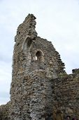 The remains of the Norman castle at Hastings in East Sussex, England. The castle was built by William The Conqueror.