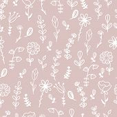 Hand Drawn Floral Seamless Pattern poster