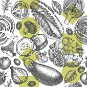 Vegetables Market Patterns 2 poster
