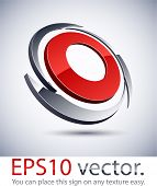 Vector illustration of 3D blade abstract business symbol.