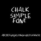 Chalk Textured Font. Grunge Script On Chalkboard. Vector Calligraphy Illustration. poster