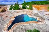 The most beautiful hot spring in Yellowstone park -